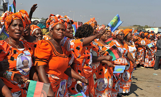 The women of JBFI,   Supporters and benefactors of H.E. Dr. Joyce Banda's life's work.