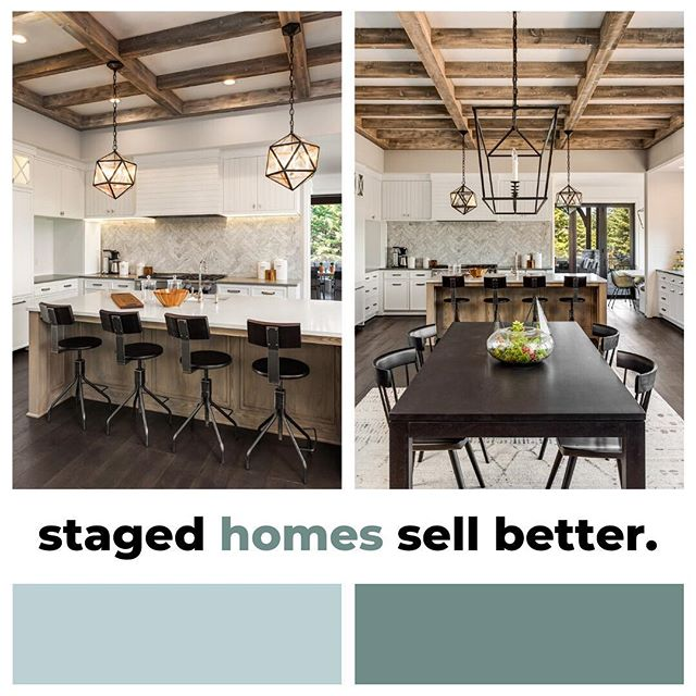 Did you know that half of staged homes on the market sold for 10% more? Not sure where to start? Drop us a DM.