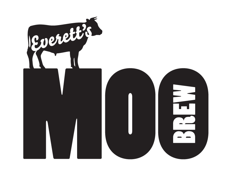 MOO BREW logo for Everett Ranch Beef
