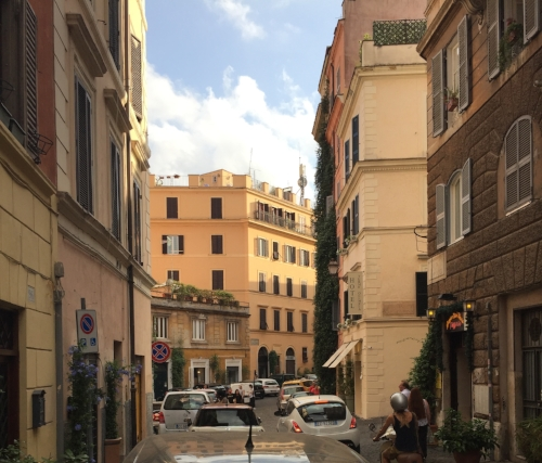"La Dolce Vita- ""The Sweet Life"".  Our apartment overlooked this street."