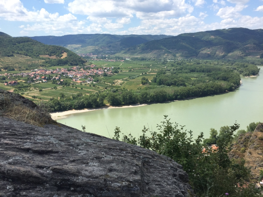 One of our dreams- travel with our boys.  We are overlooking the Danube River in Austria.  Standing on ruins of Durnstein castle where Richard the Lionhearted of England was held having been captured for ransom in 1193 A.D.  upon his return from the Crusades.
