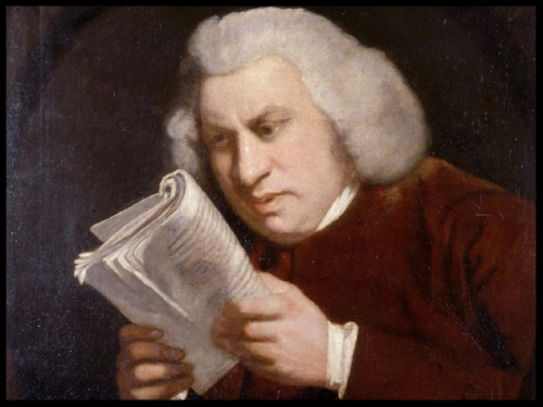 Samuel Johnson by Joshua Reynolds.