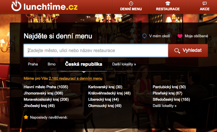Lunchtime,cz, one of two recent acquisitions by Zomato