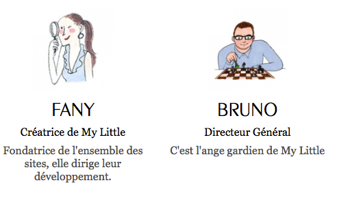 My little Paris' Board of Directors: Fany Pichard and Bruno Vuillier
