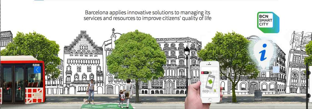 Picture taken from the Barcelona Smart City website: It's Barcelona's goal to improve citizens' quality of life through innovative solutions