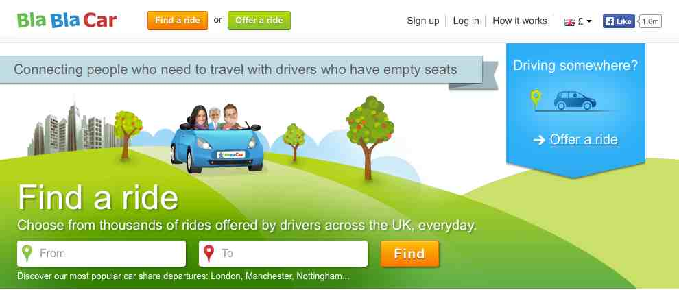 BlaBlaCar website