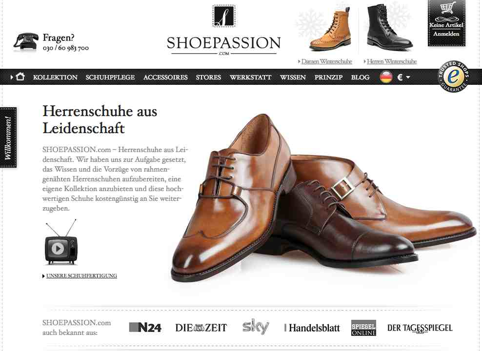 Shoepassion.com website