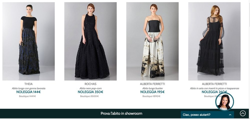 Dresses shown on the Italian Drexcode website