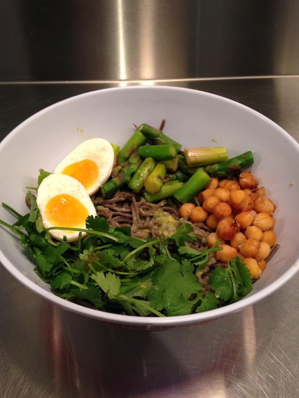 Cilantro Pesto Soba Noodle Salad