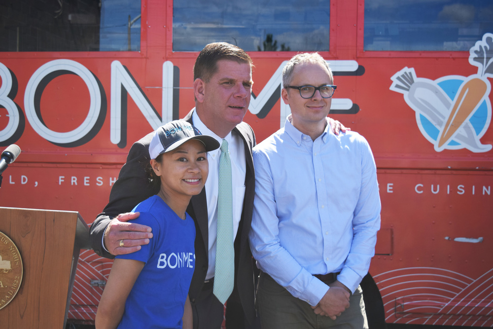 Boston's Mayor, Marty Walsh and our founders   Alison Fong   and   Patrick Lynch   before the speeches.