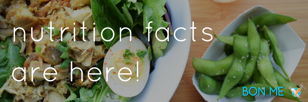 Nutritional Facts Are Here!