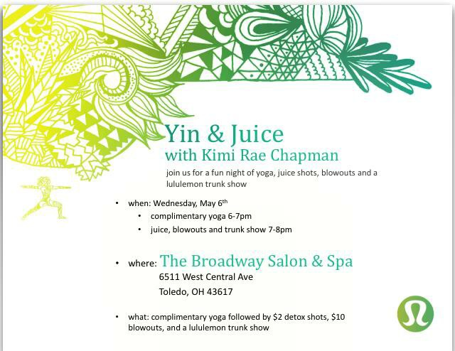 Don't miss out on a fabulous FREE yoga class this Wednesday@ 6pm!