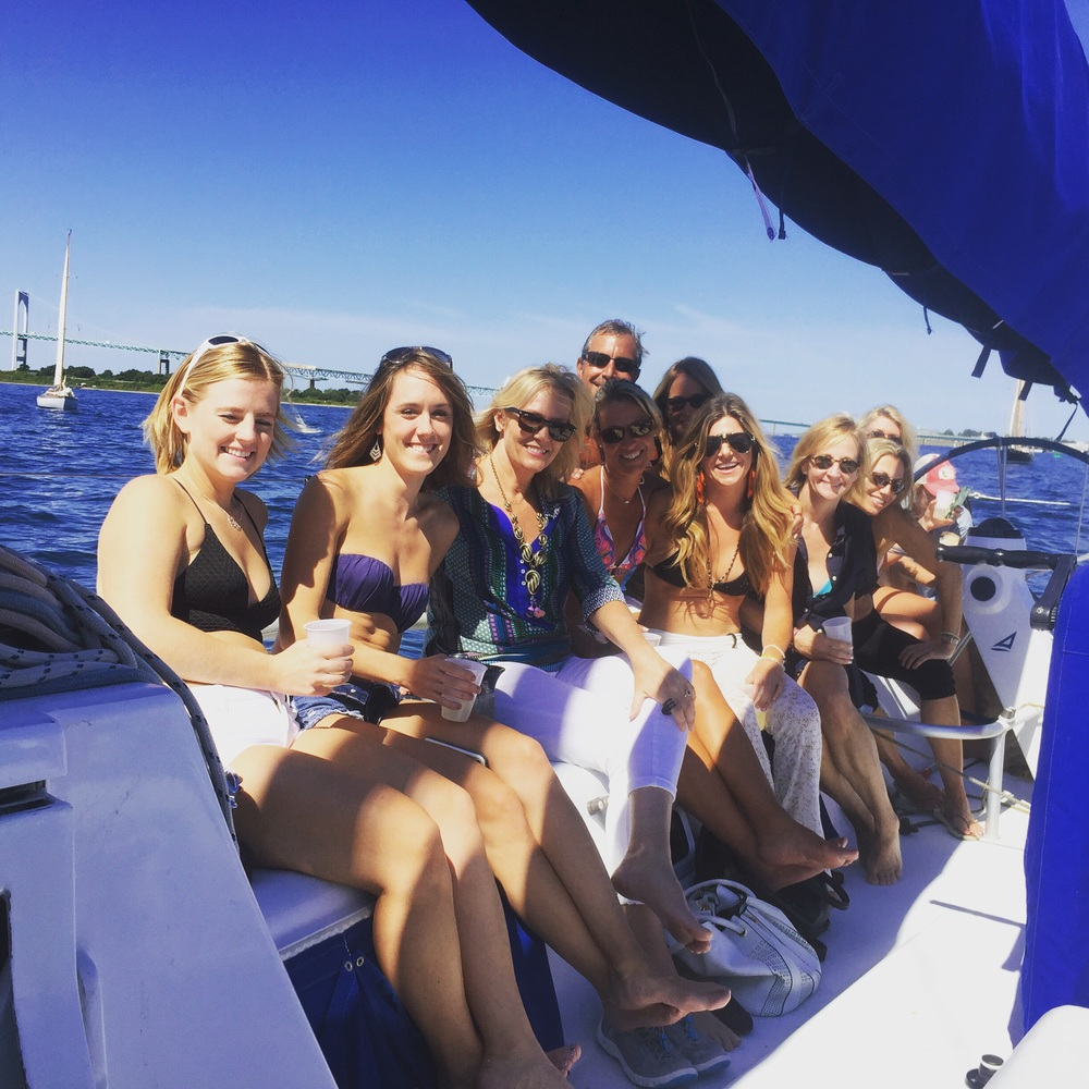 This obviously was not the Regatta🙊pre-regatta sail with beautiful strong women from all over the globe! (And Don) 👅