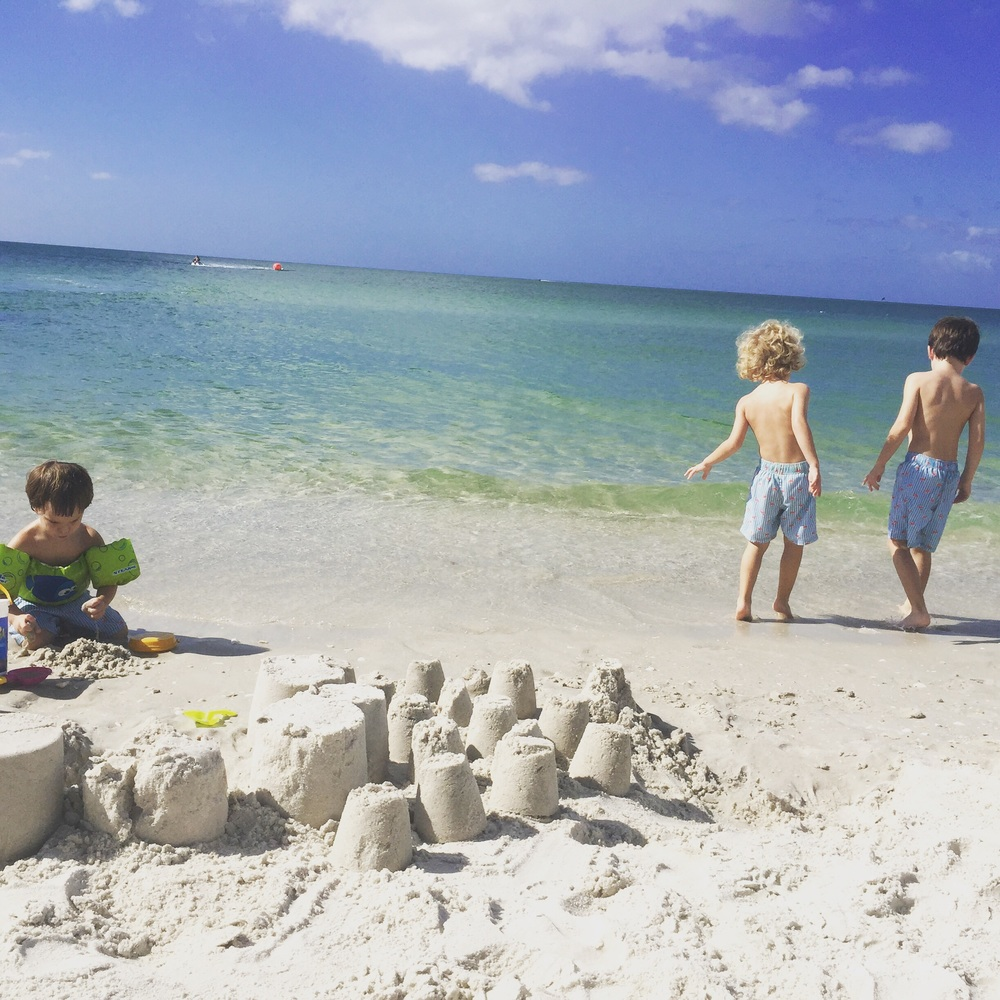 "We built our ""dream city"" in the sand...next step...coming soon...😊👌"