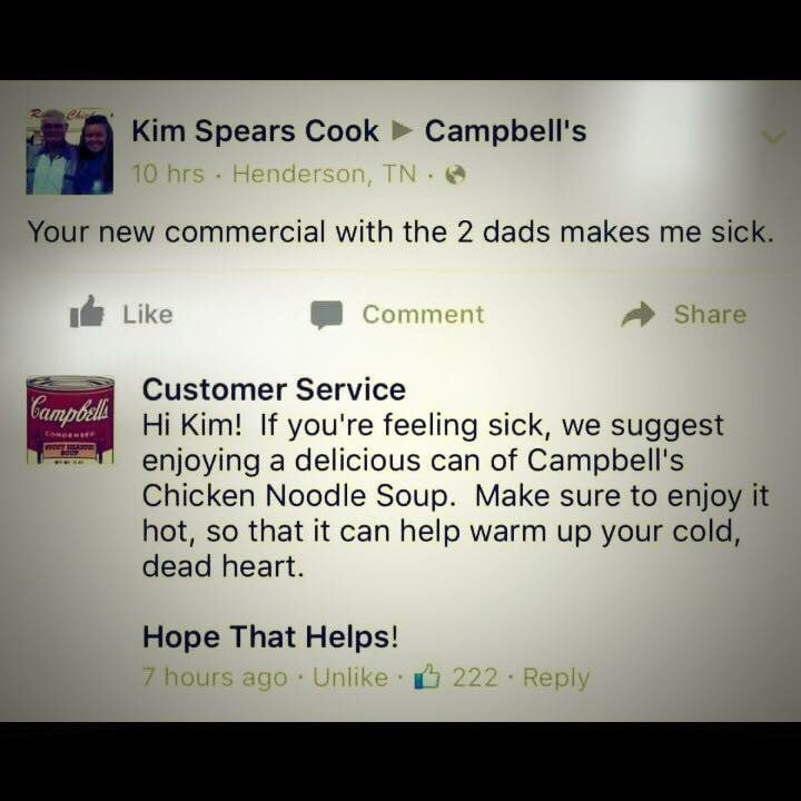 Heheeheh right on Campbells