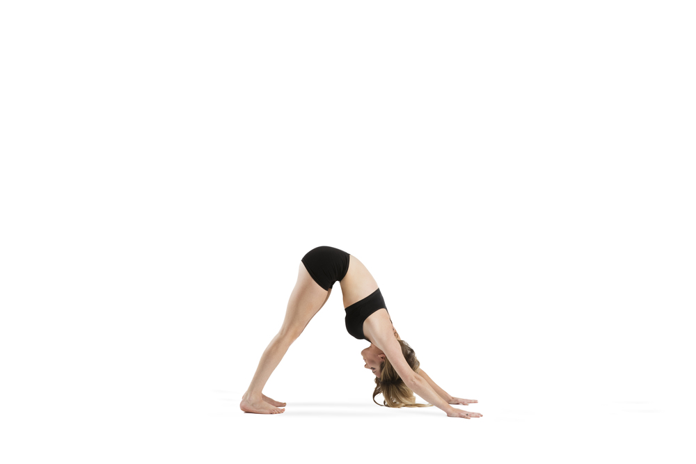 Downward Facing Dog Great posture to ease into practice and quiet mind while stretching & strengthening 10 breaths