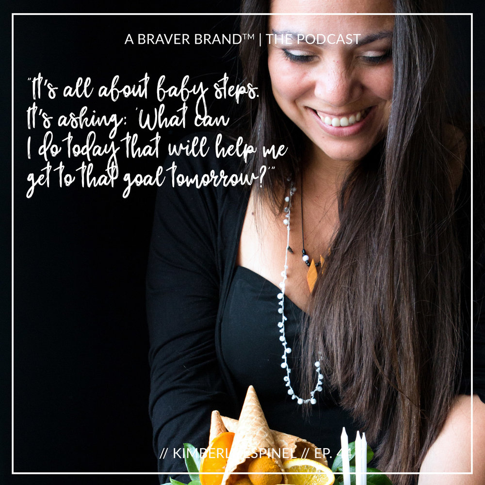 Kimberly Espinel, food photographer, food blogger, and teacher, on A Braver Brand with Kate K. McCarthy