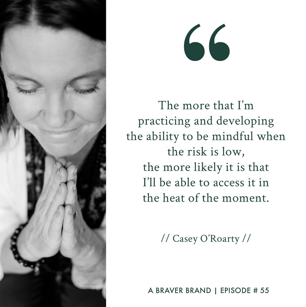 Casey O'Roarty of Joyful Courage on Parenting, Personal Development, & Purpose | A Braver Brand with Kate K. McCarthy