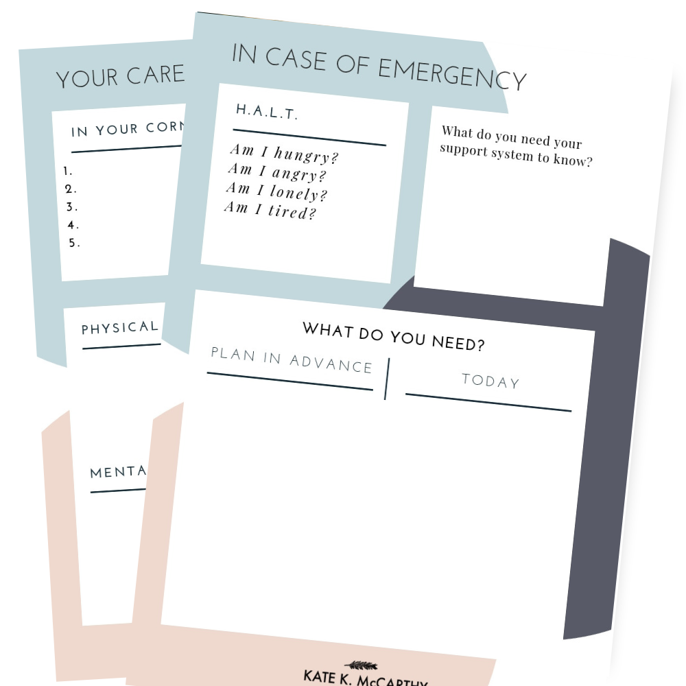 Kate K. McCarthy | Creating a Care Plan for your Life & Business