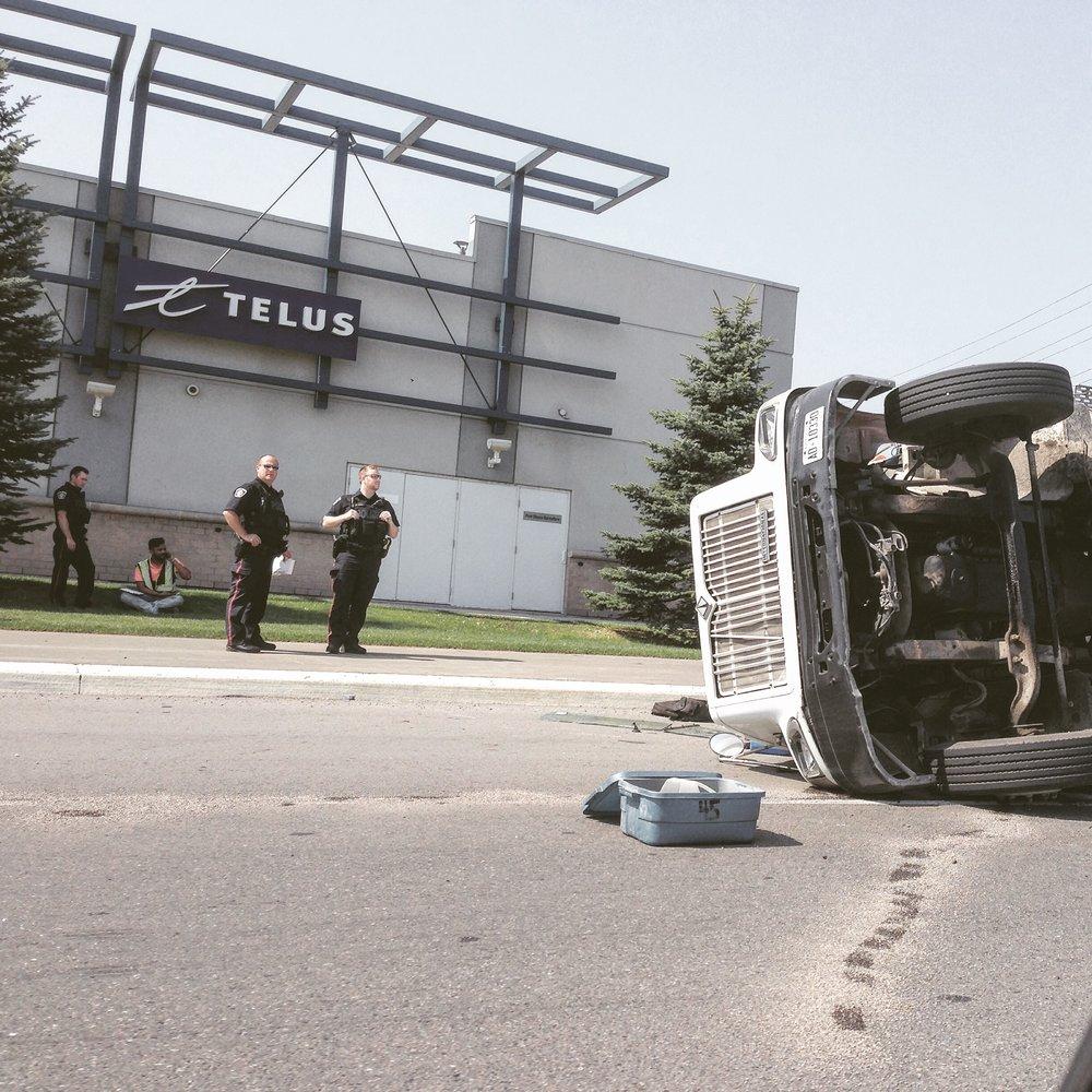 Highway Car Crash - photography