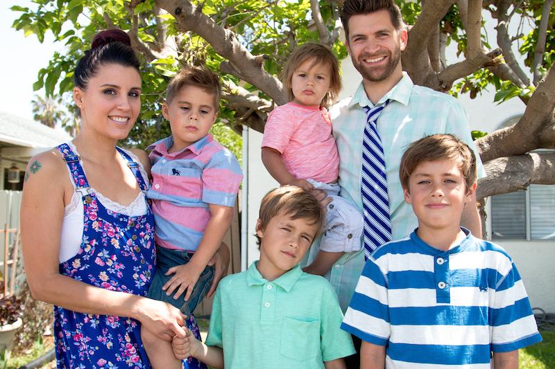 The Martin Family: Kate, Jae, Tai, Huck, Colby and Zeke
