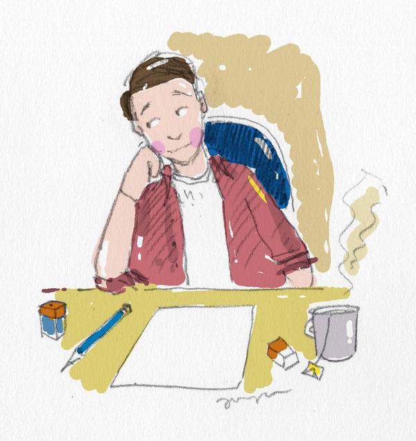Oheinen kuva: Jusa Hämäläinen.   Jusa aikoo selkeesti ryhtyä pitämään kuvapäväkirjaa piirtämällä. Ainakin toivon niin. Albumi tässä .