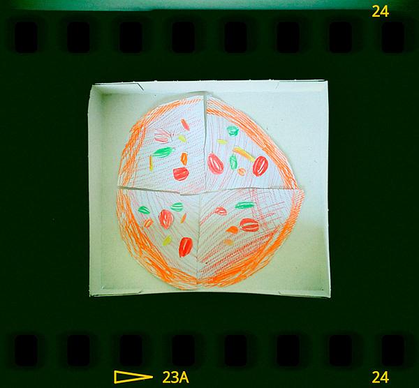 Tytär leipaisi kätevän pizzan laatikoineen. Helppoa lomaevästä.
