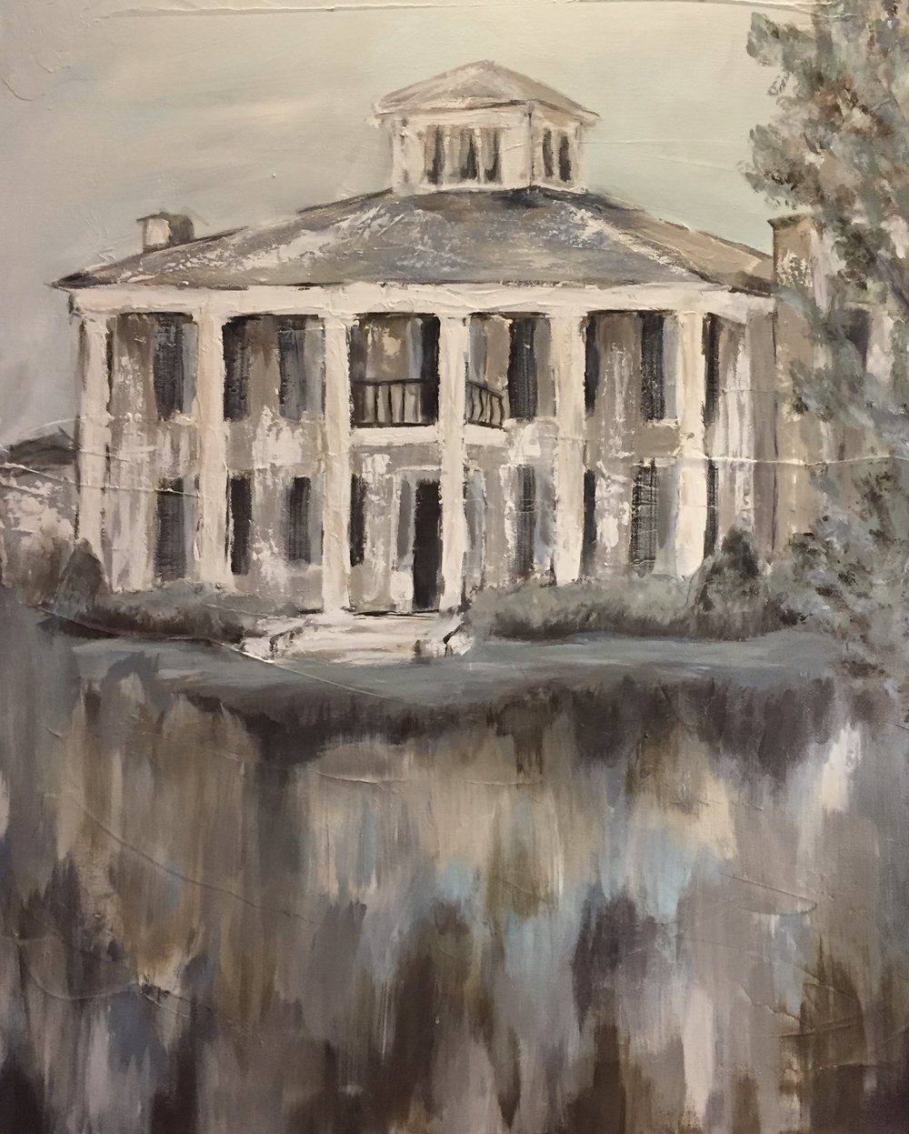 "Commission-- Castle Hill, Oxford ,MS--30""x40"""