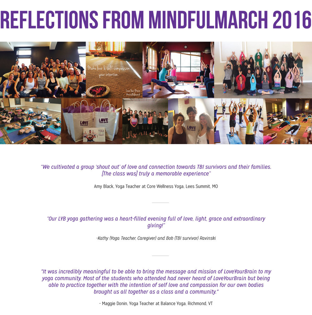Mindful March 2016 Reflections and Testimonials