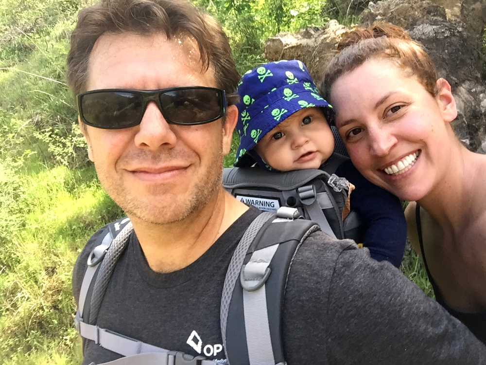 Family hike with my husband, Doran, and our baby boy.