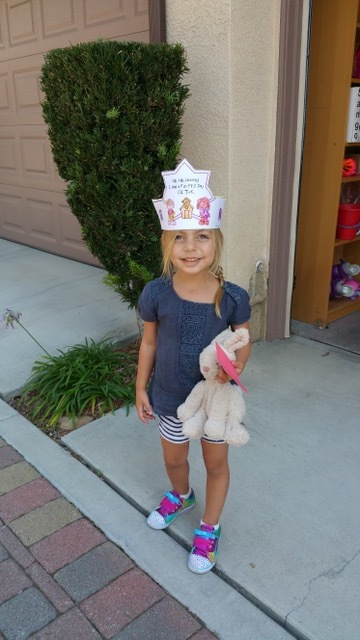 Before the accident, Natalie's first day of kindergarten.