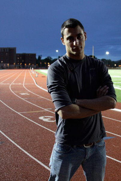 Me before my injury in 2012 at a collegiate track meet.