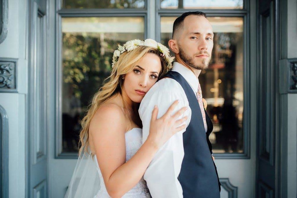 My wife and I on our wedding day, post-accident.