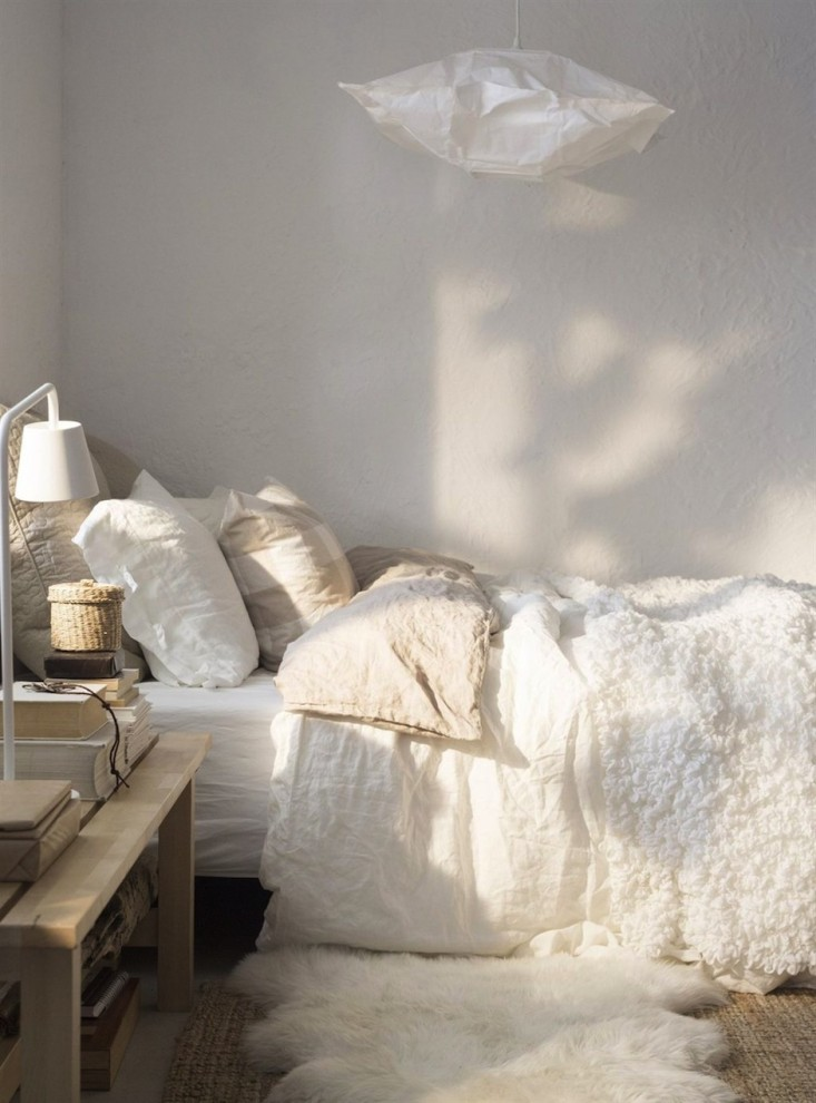 Nordic inspired bedroom by Ikea - makes me smile : )