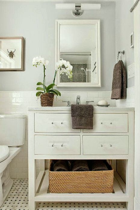 A much loved bathroom on pinterest that could easily translate into a powder room.