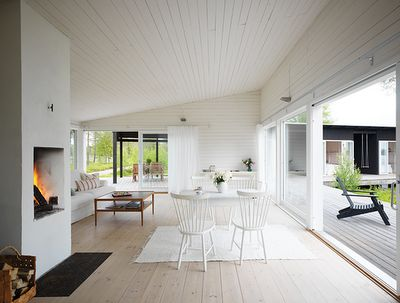 A Swedish cottage in the summer