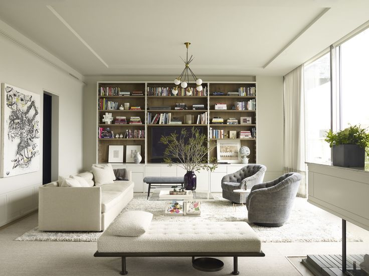 White with wooden built-ins - amazing!