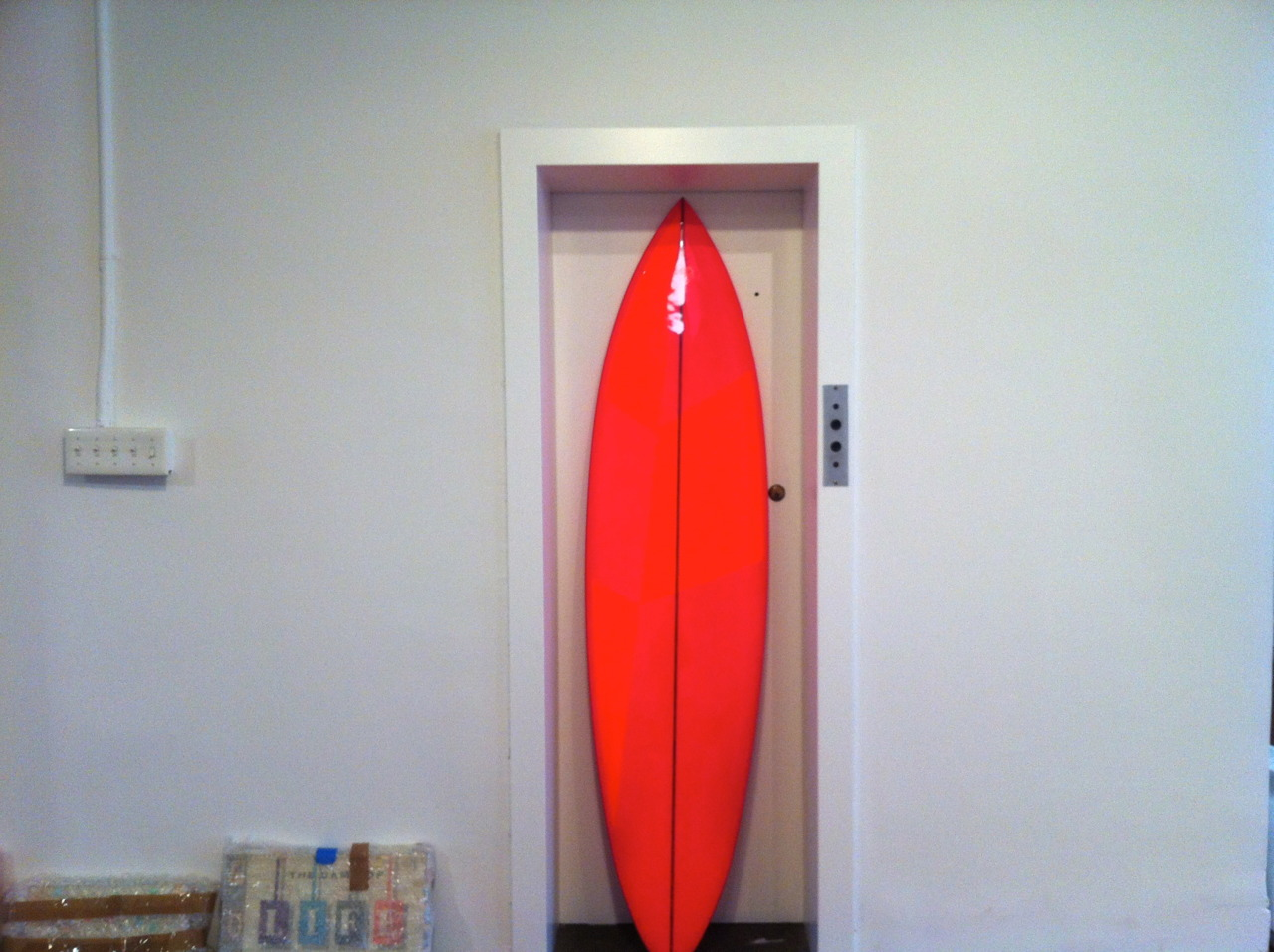 JUST FOUND THE PERFECT SPOT FOR ROGAN GREGORY'S  FLUORO BOARD