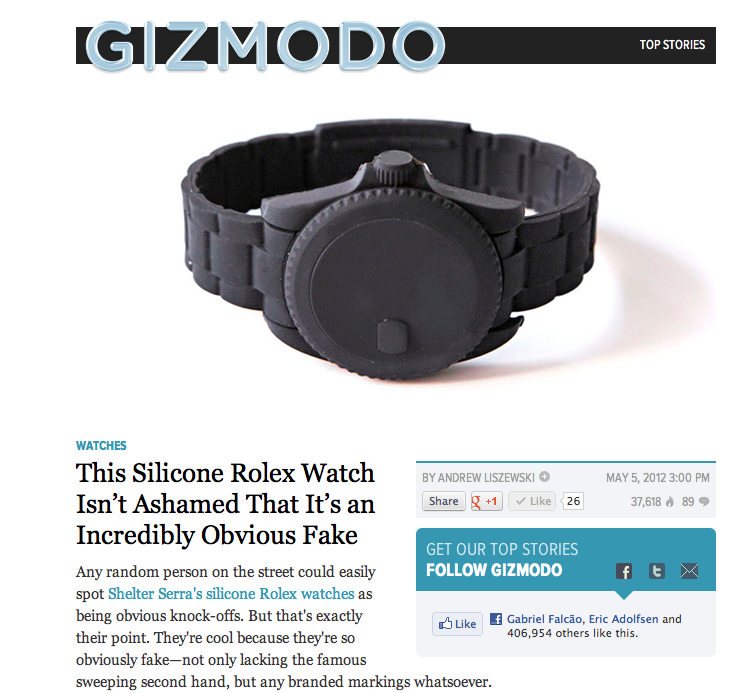 This Silicone Rolex Watch Isn't Ashamed That It's an Incredibly Obvious Fake  on  Gizmodo !