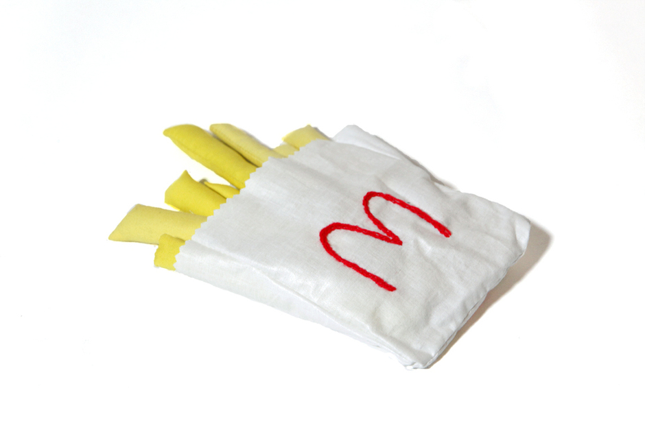 MEGAN WHITMARSH - SOFT MCDONALD'S FRIES SCULPTURE on GREY AREA'S BAD FOR ME