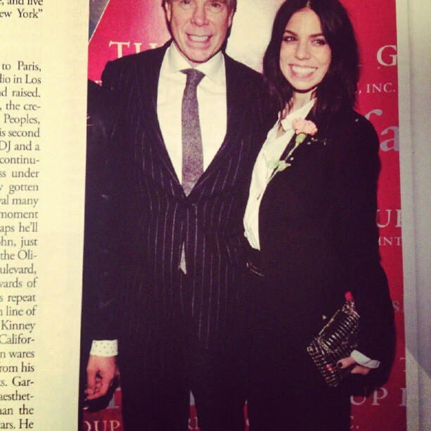 Love seeing Ally Hilfiger toting an @anndraneen clutch! Buy: https://www.shopgreyarea.com/products/309-brass-copper-jewelry