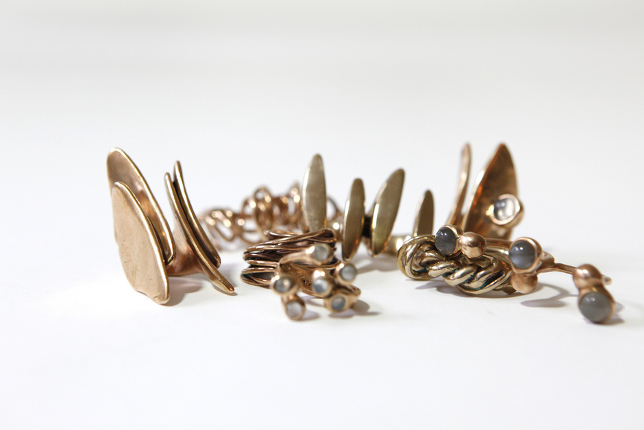 BRONZE RINGS by MONICA CASTIGLIONE in honor of our BODY ART closing party tomorrow!