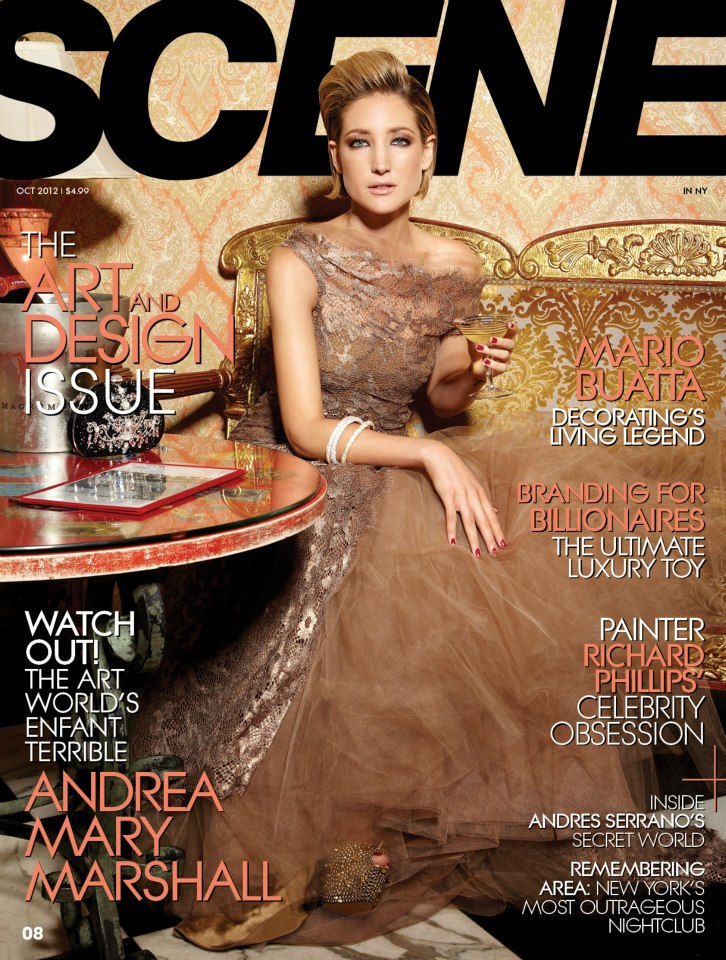 Andrea Mary Marshall on the cover of SCENE Magazine.