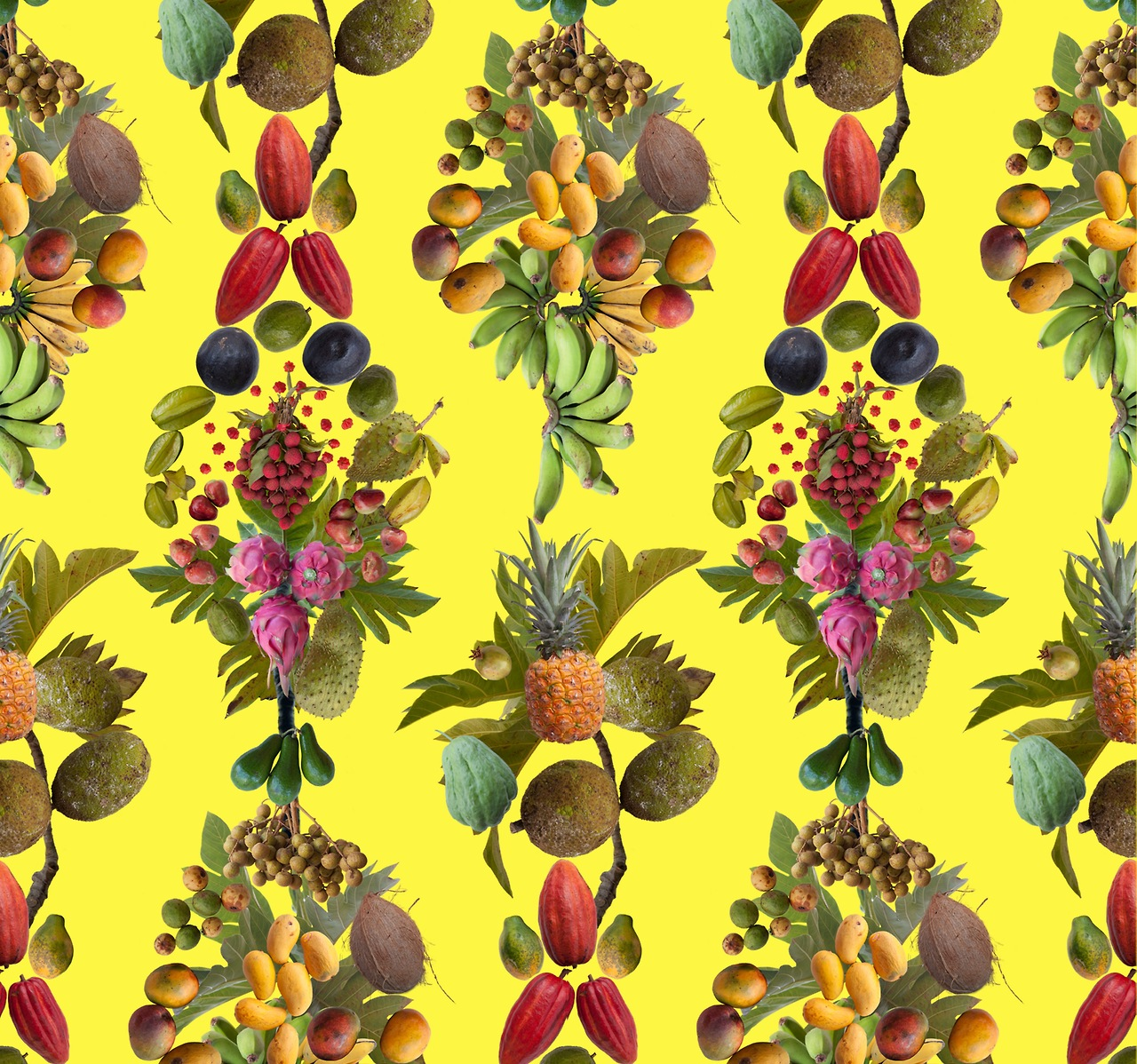 Public Fruit Wallpaper Honolulu, 2012 by    FALLEN FRUIT         Commissioned by  GREY AREA  and Smart Car for the launch   of the all-new Electric Drive