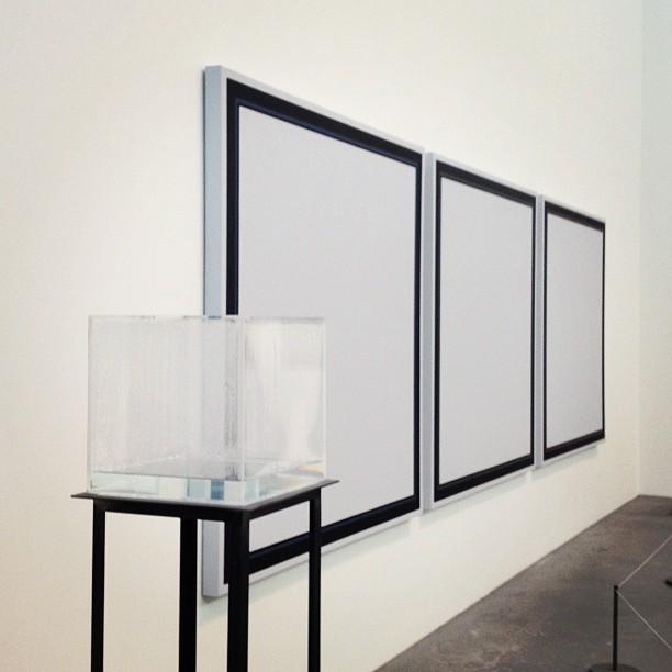 Hans Haacke Condensation Cube + Jo Baer. #greytravels
