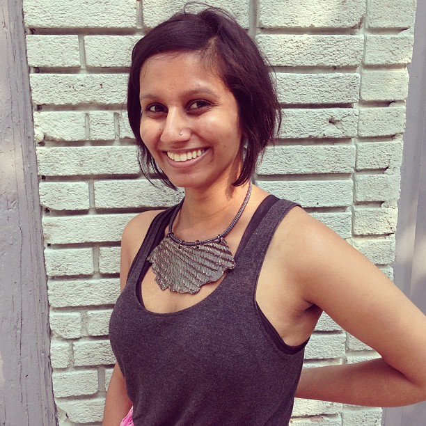 Meet our new editorial intern @kriti____ wearing her favorite @orlygenger piece