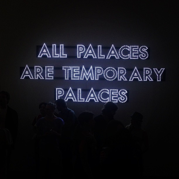 LED poetry with Robert Montgomery #lightart greyvisits
