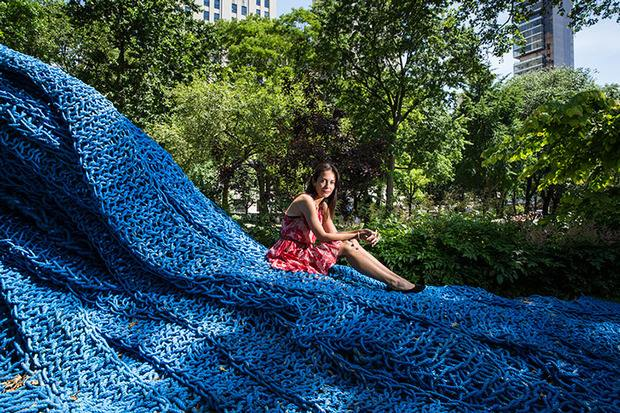 Orly Genger's massive rope sculptures from Madison Square Park are in transit to their new home at the DeCordova Sculpture Park and Museum.     http://bit.ly/1hnkkBe