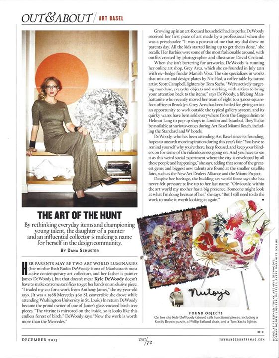 Kyle DeWoody talks Art Basel with Town & Country.
