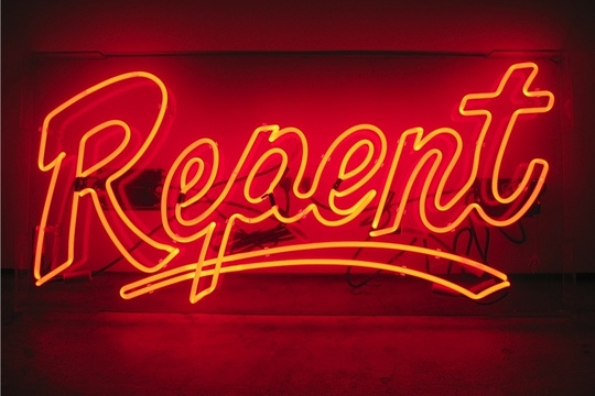 Turn back now.     Repent  by Anthony James